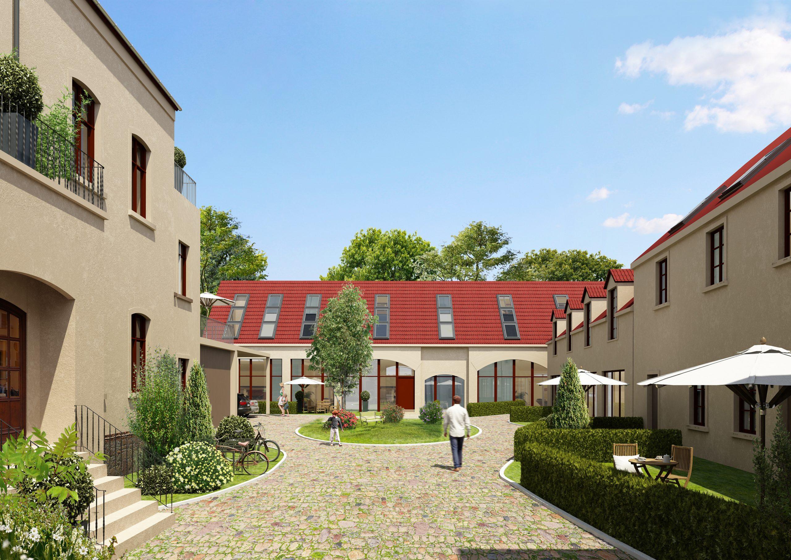Altes Dorf 11-Hofansicht Visualisierung