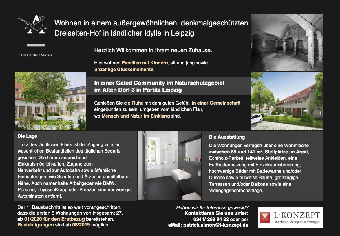 Vermietung eines Dreiseiten-Hofs in ländlicher Idylle in Leipzig - Portitz